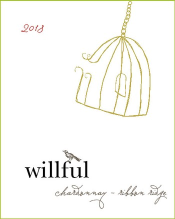 2018 Willful Ribbon Ridge Chardonnay